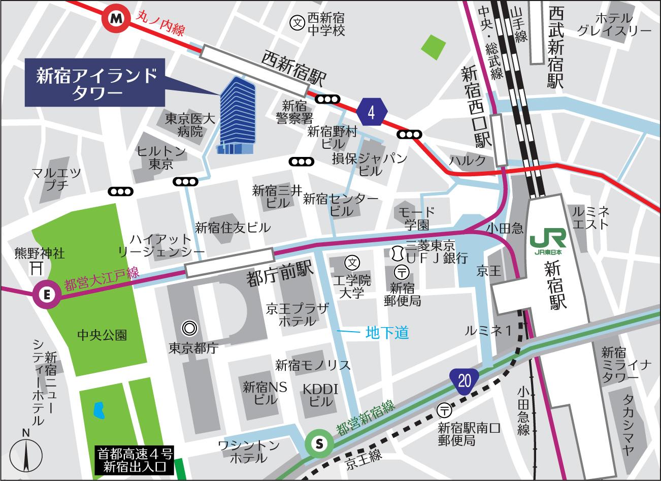 事務所マップ 電車図